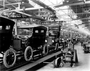 Futószalag a Ford gyárában - 1924