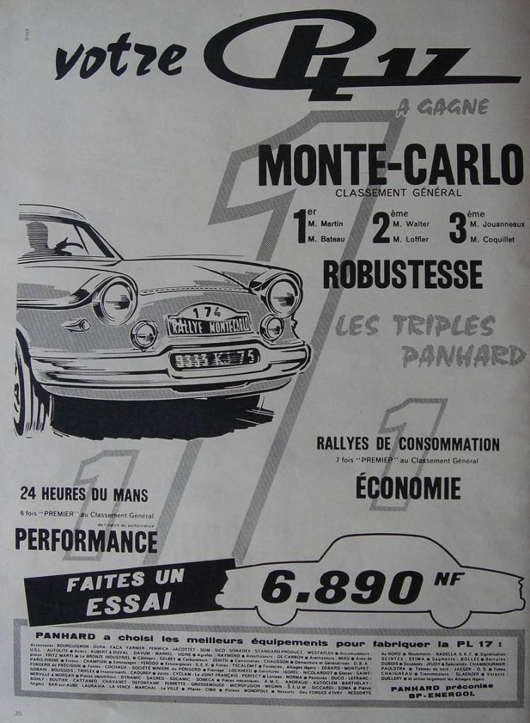 Panhard PL17 Monté Carlo - 24H du Mans